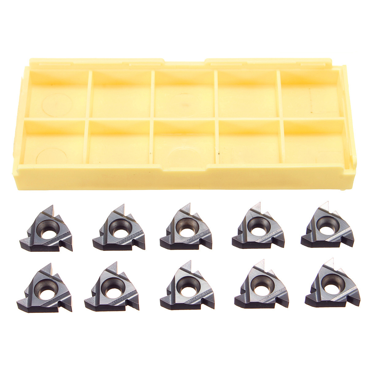 Drillpro 10PCS 16ER AG55 Carbide Threading Inserts For Steel/Stainless Steel Turning Tool