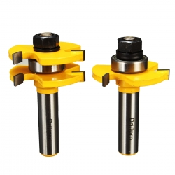 Drillpro 2Pcs Rail & Stile Router Bit Set Shaker 1/2'' Shank Woodworking Chisel Carpenter