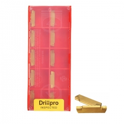 Drillpro 10x MGMN200-G 2mm Carbide Insert Blade For MGEHR/MGIVR Grooviing Cut-Off Tool