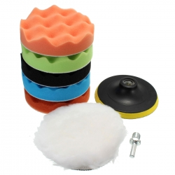 Drilpro Sponge Polishing Waxing Buffing Pads Kit Set Compound For Auto Car