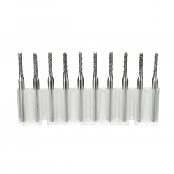 Drillpro 3.175mm Shank 2mm Carbide End Mill Engraving Bits