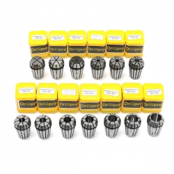 Drillpro 13PCS ER20 HSS Spring Collet Set for CNC Milling Engraving Machine Lathe Tool